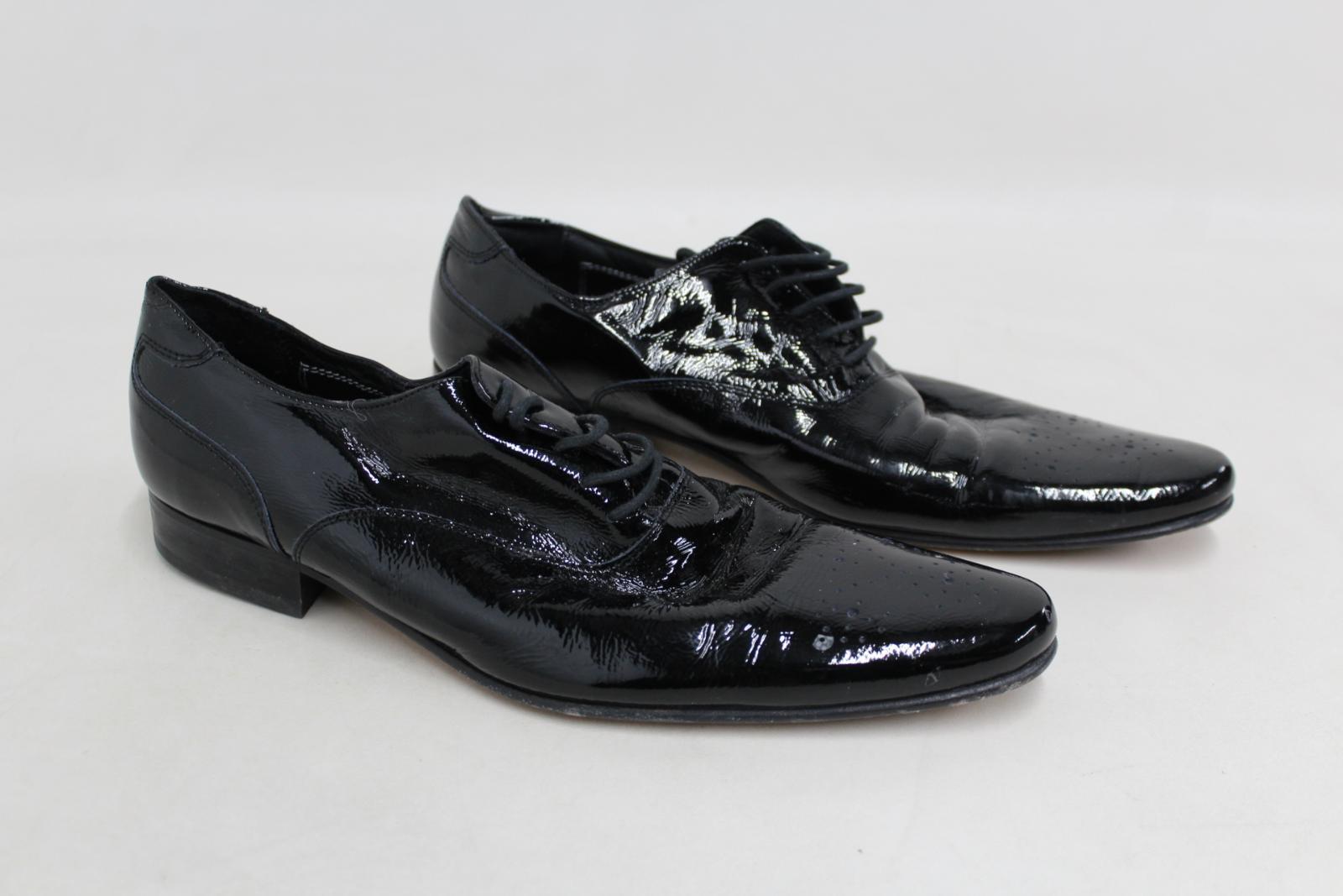 Marks-amp-Spencers-Autograph-de-Jeffery-West-Homme-Noir-Formelle-Chaussures-Taille-UK9-EU43 miniature 2