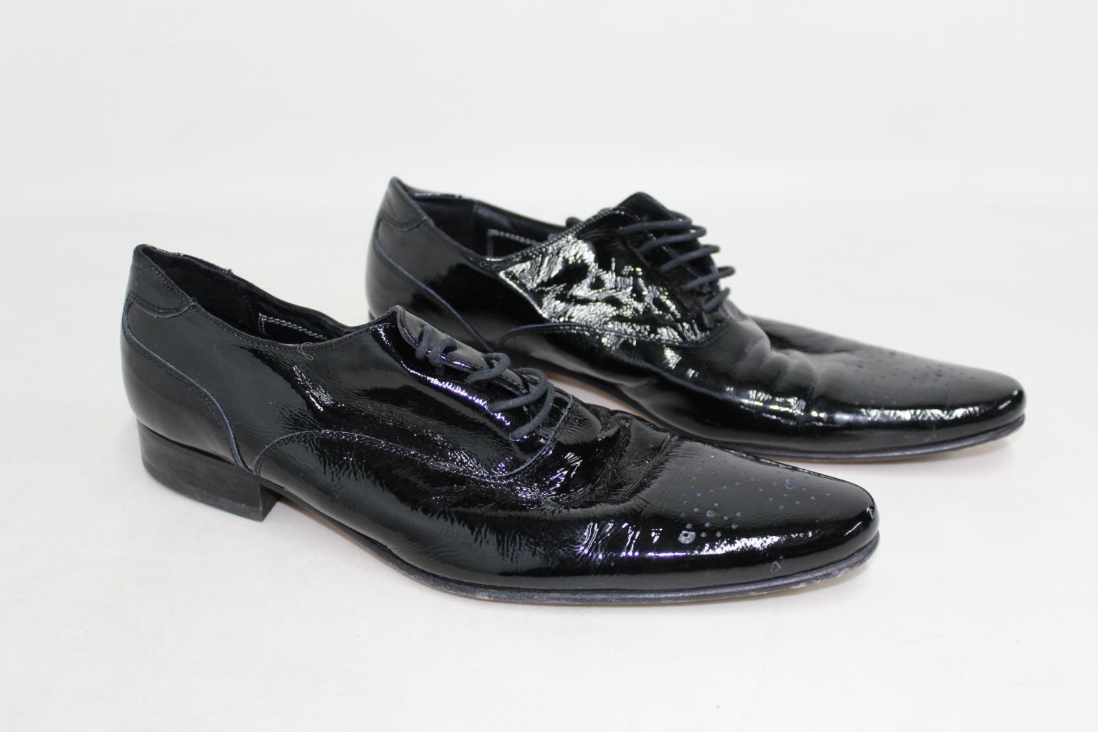 Marks-amp-Spencers-Autograph-de-Jeffery-West-Homme-Noir-Formelle-Chaussures-Taille-UK9-EU43 miniature 3