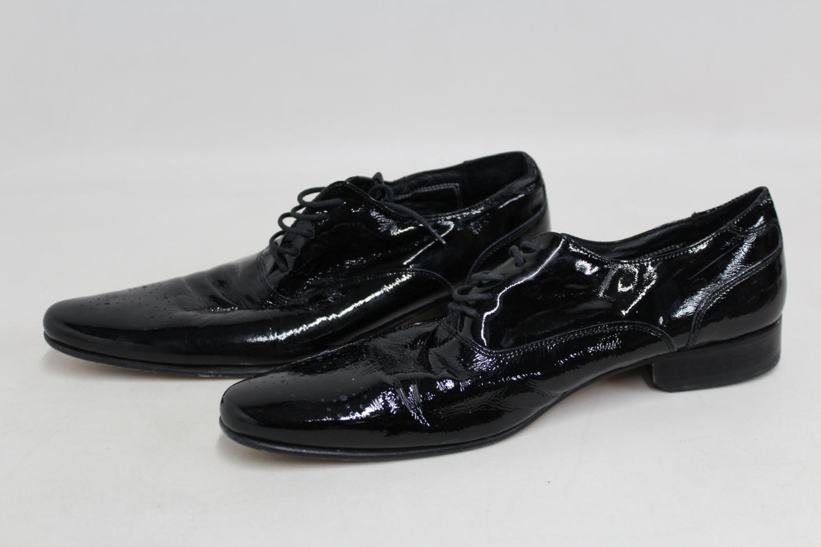 Marks-amp-Spencers-Autograph-de-Jeffery-West-Homme-Noir-Formelle-Chaussures-Taille-UK9-EU43 miniature 5