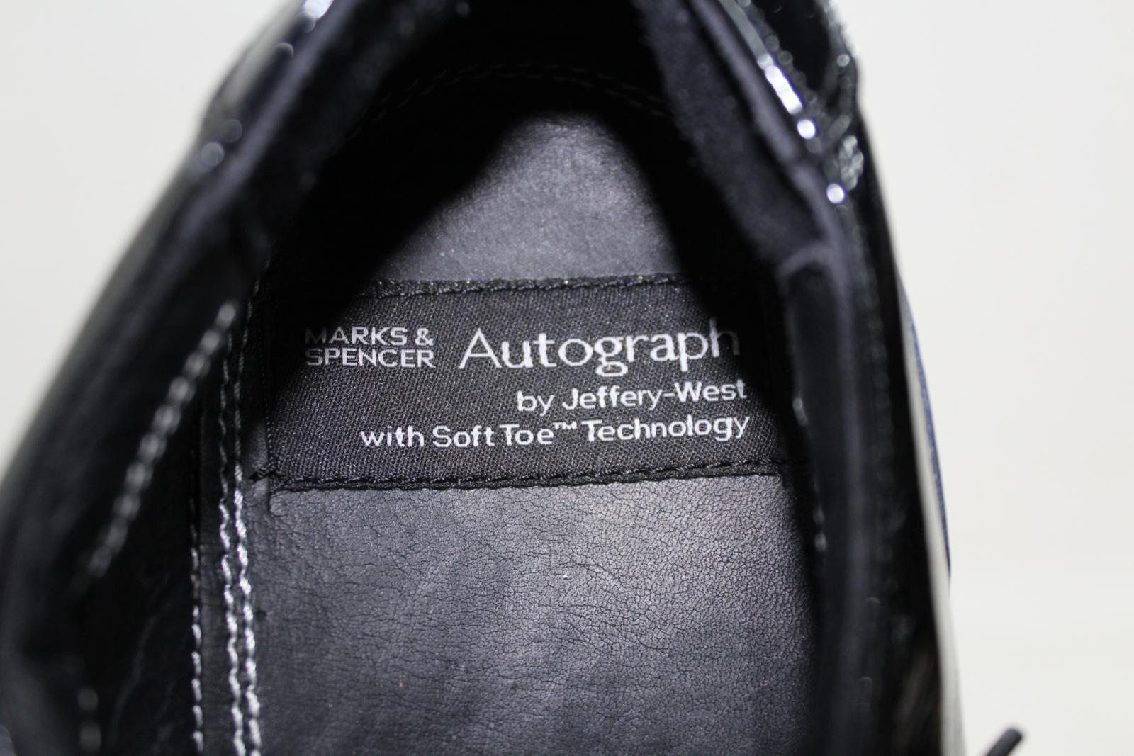 Marks-amp-Spencers-Autograph-de-Jeffery-West-Homme-Noir-Formelle-Chaussures-Taille-UK9-EU43 miniature 8