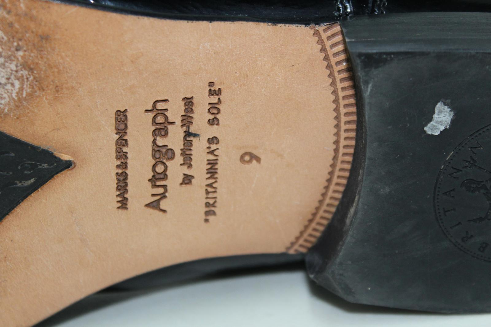 Marks-amp-Spencers-Autograph-de-Jeffery-West-Homme-Noir-Formelle-Chaussures-Taille-UK9-EU43 miniature 9