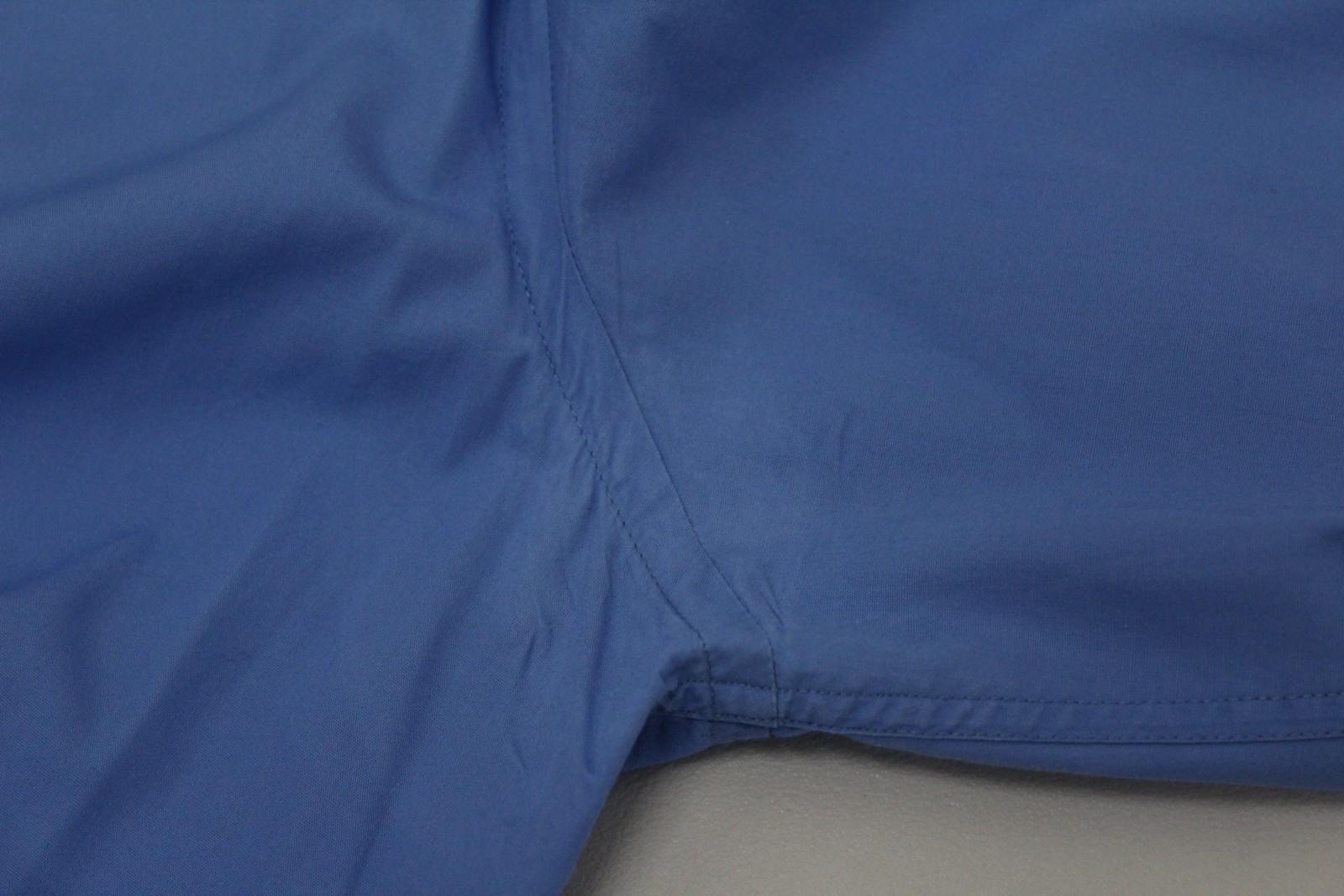 Paul-Smith-Hombres-Azul-Algodon-Mangas-Largas-Camisa-De-Puno-Doble-Cuello-16-5-034-42cm miniatura 8
