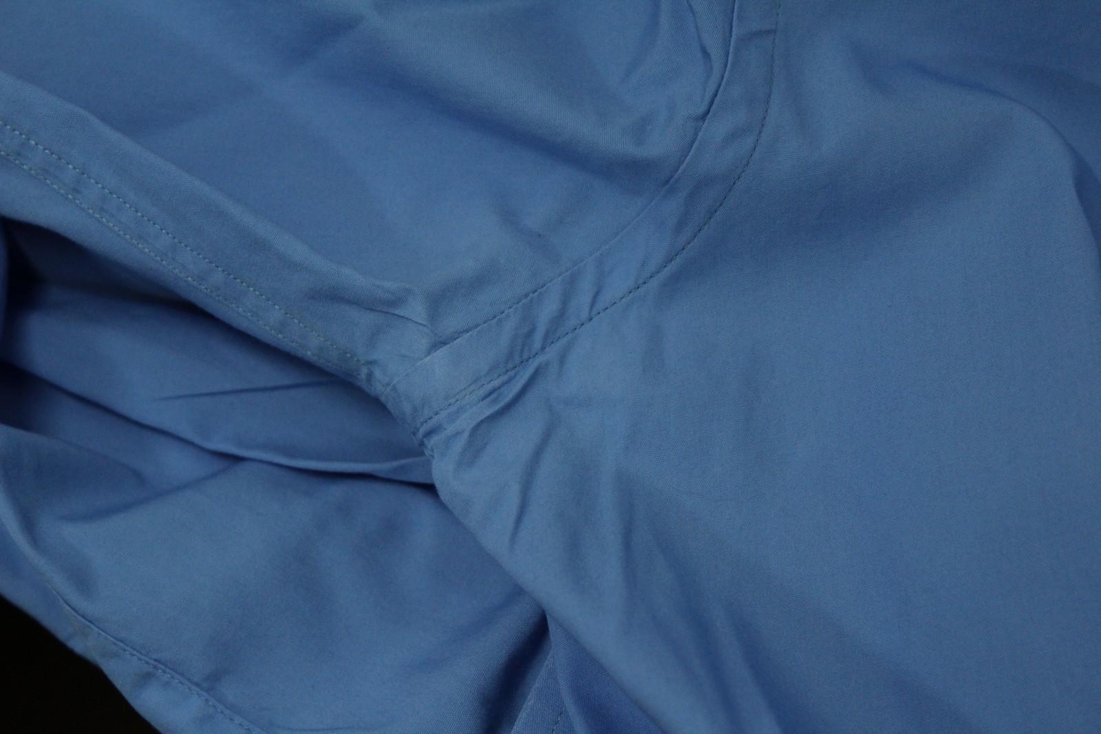 Paul-Smith-Hombres-Azul-Algodon-Mangas-Largas-Camisa-De-Puno-Doble-Cuello-16-5-034-42cm miniatura 9