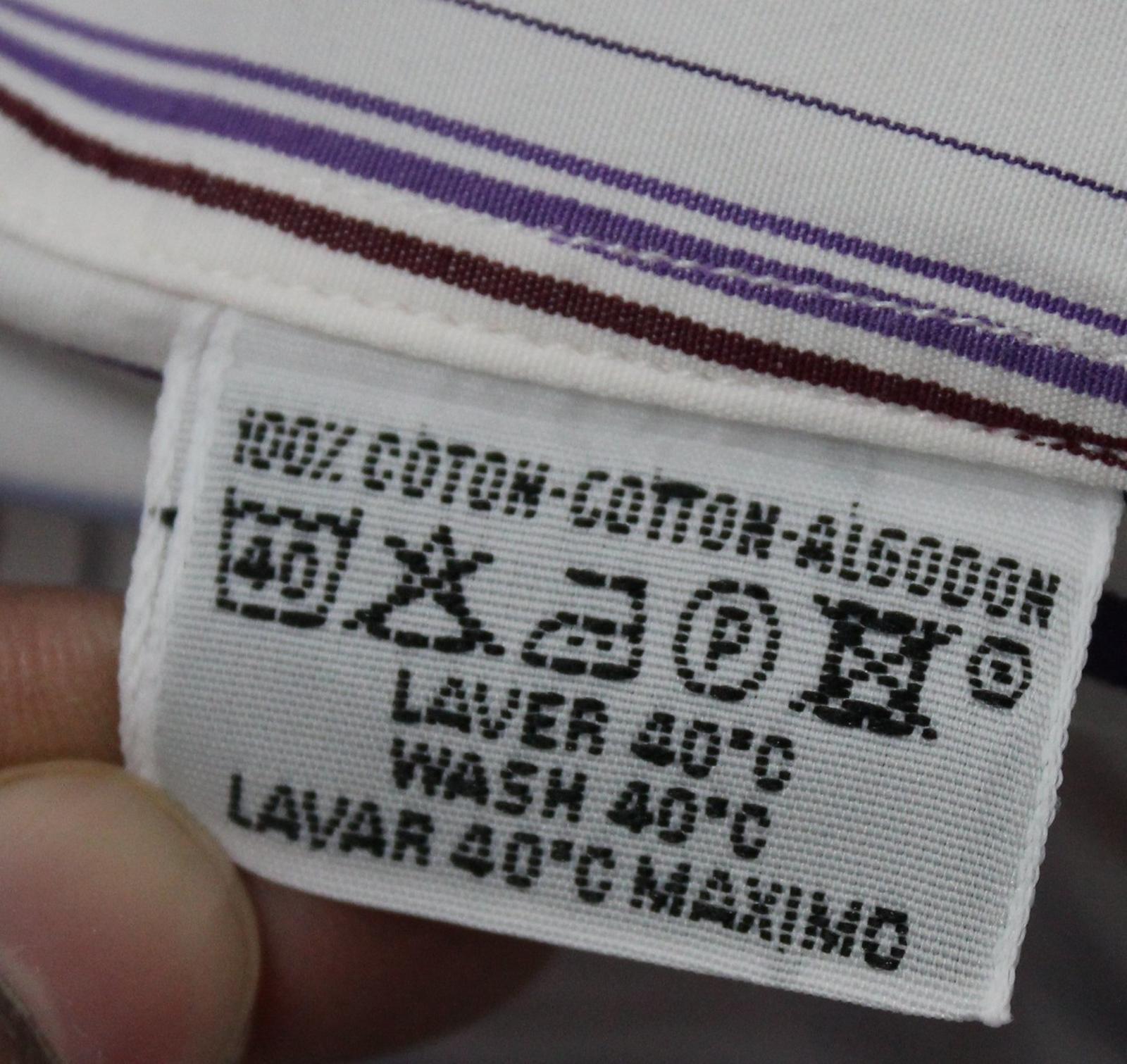 Hermes-para-hombre-Multi-Color-a-rayas-de-algodon-camisa-de-mangas-largas-cuello-16-5-034-42cm miniatura 10