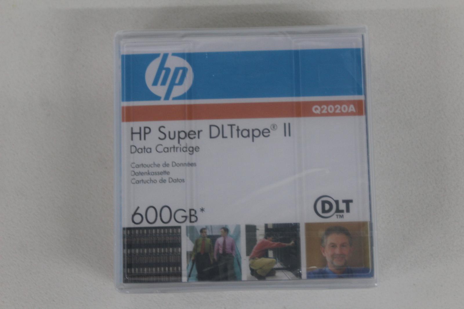 HP-Q2020A-Super-DLtape-II-Data-Tape-Square-cartouche-600-Go-job-lot-4x-NEUF miniature 4