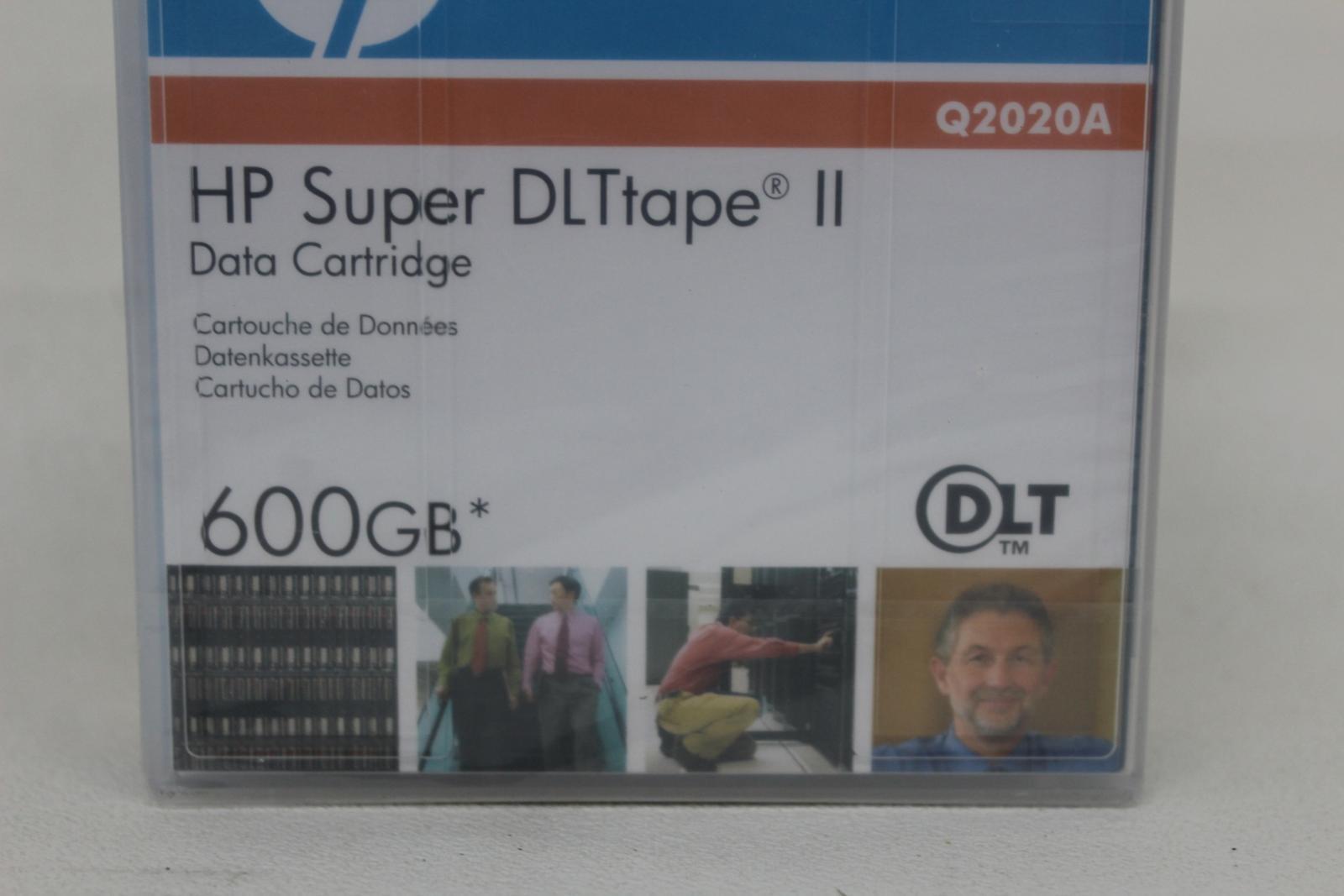 HP-Q2020A-Super-DLtape-II-Data-Tape-Square-cartouche-600-Go-job-lot-4x-NEUF miniature 6