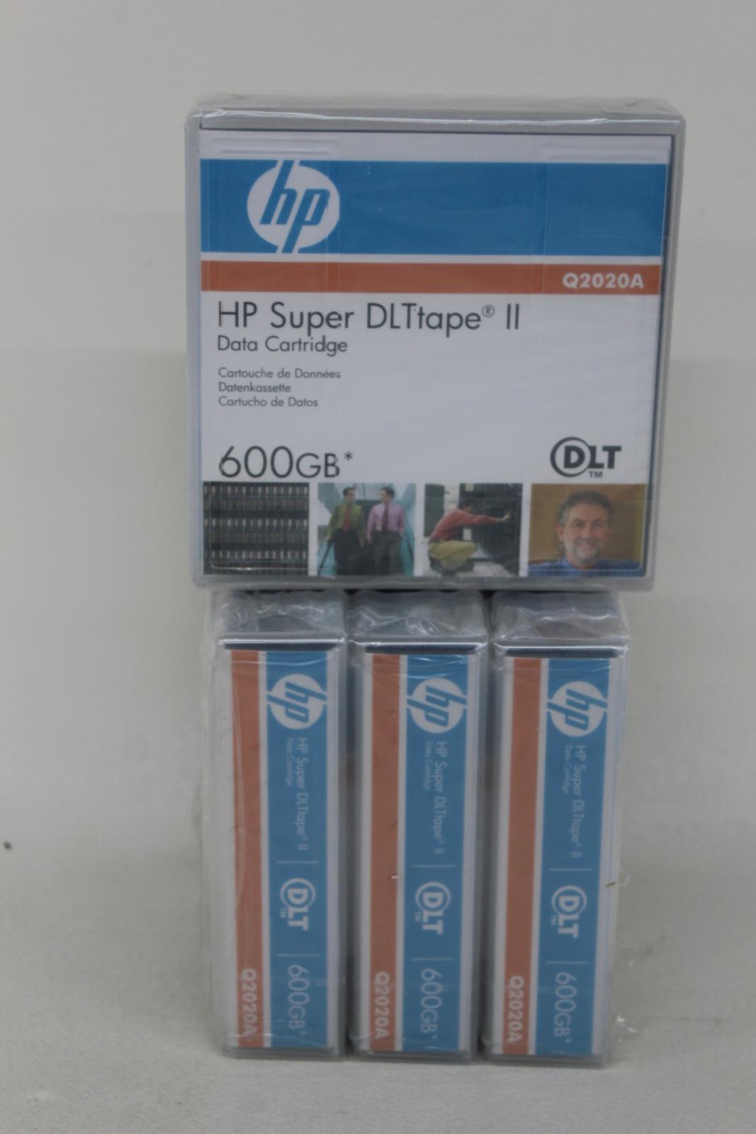 HP-Q2020A-Super-DLtape-II-Data-Tape-Square-cartouche-600-Go-job-lot-4x-NEUF miniature 12