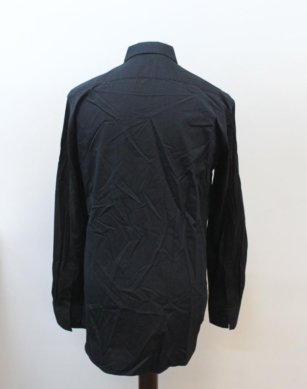 Neil-Barrett-Hombre-Azul-Manga-Negra-Cuello-Camisa-de-impresion-Corbata-Slim-Fit-16-5-034-42cm miniatura 5