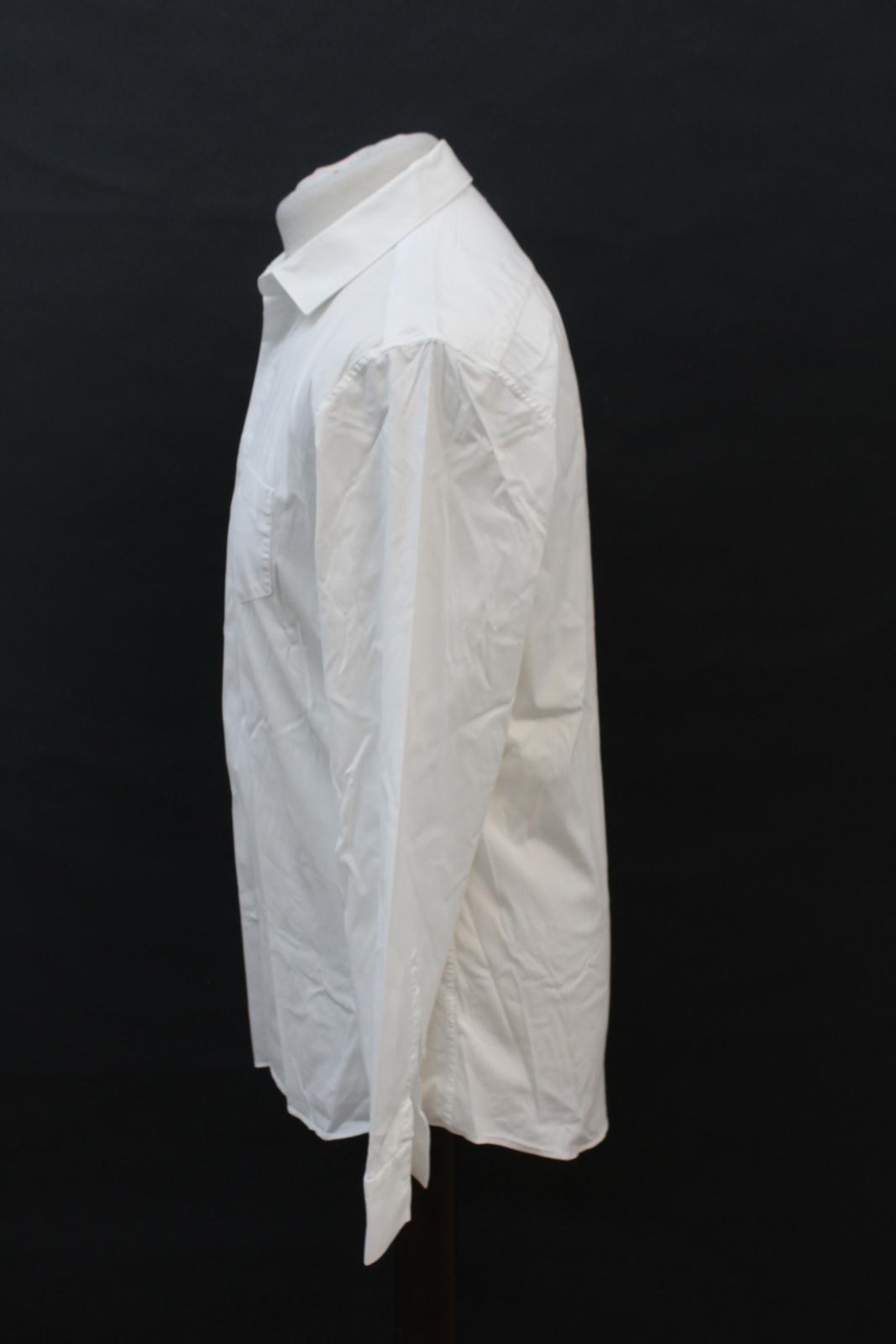 NEIL-BARRETT-Men-039-s-White-Cotton-Blend-Slim-Fit-Formal-Shirt-Collar-16-5-034-42cm miniatura 6