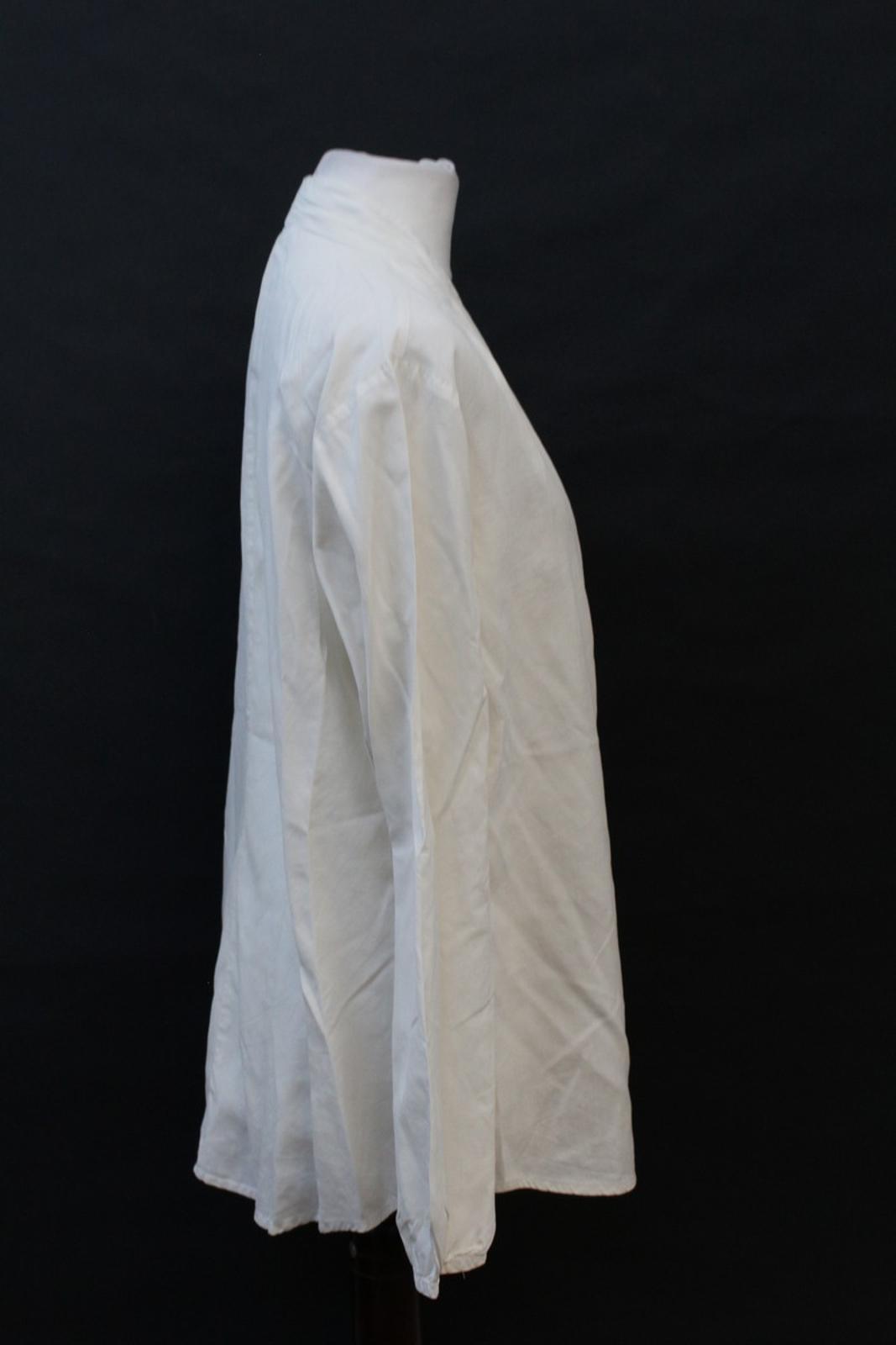 Orvis-Damas-Marfil-Seda-manga-larga-escote-en-forma-de-V-Blusa-Talla-S-UK6-8 miniatura 4