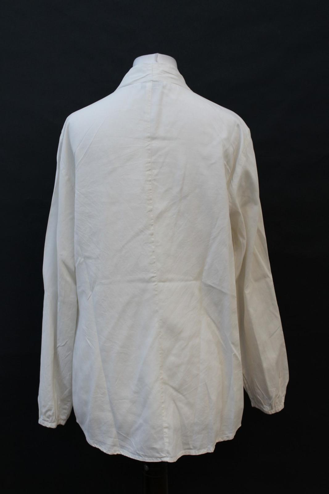 Orvis-Damas-Marfil-Seda-manga-larga-escote-en-forma-de-V-Blusa-Talla-S-UK6-8 miniatura 5