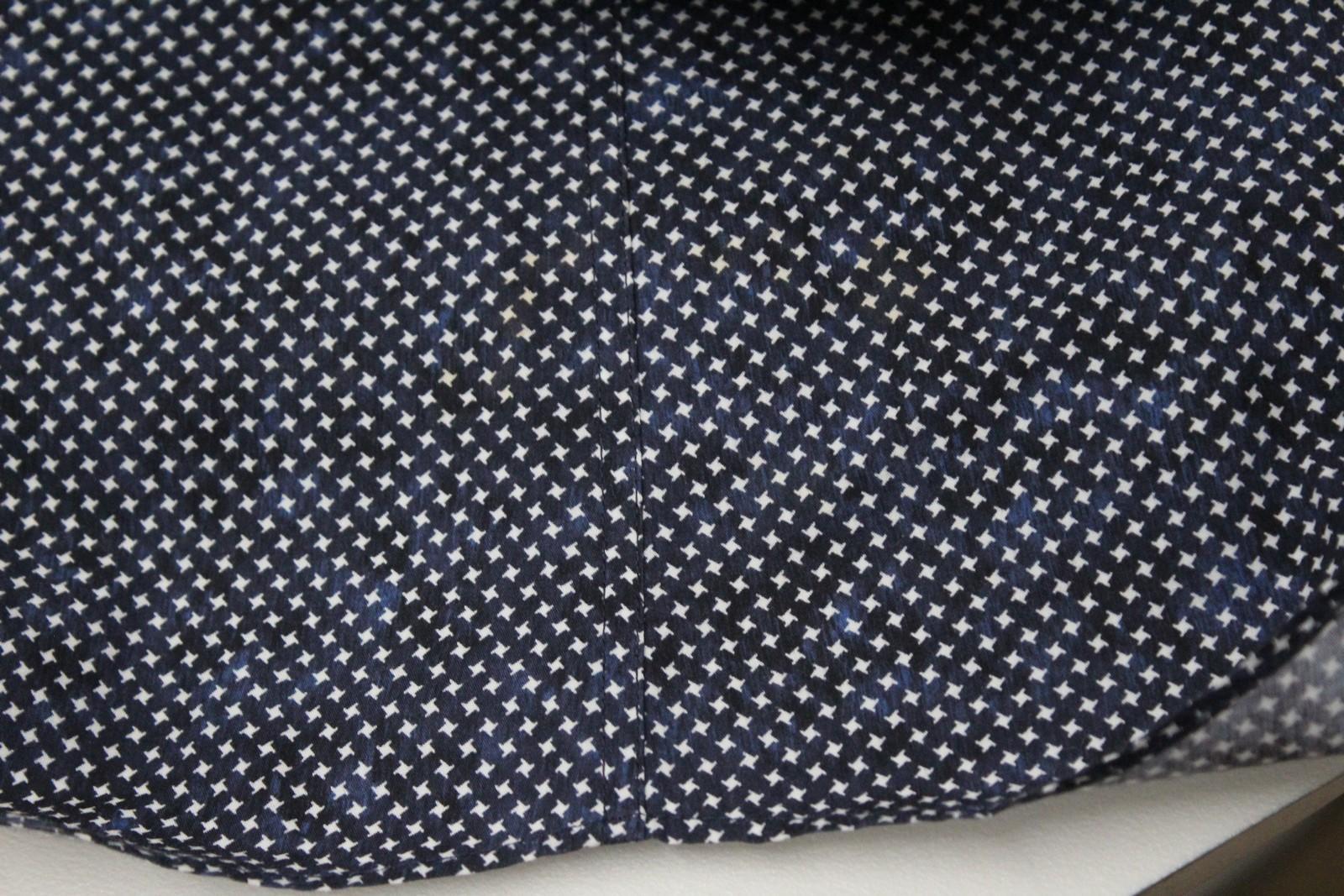 Neil-Barrett-Hombre-Azul-Negro-Algodon-Estampado-de-Estrellas-Formal-Camisa-Cuello-16-5-034-42cm miniatura 9