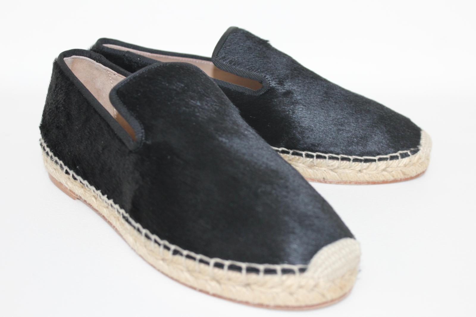 CELINE-Stacy-Black-Pony-Hair-Ladies-Flat-Espadrilles-Shoes-UK3-EU36-5-BNIB thumbnail 2