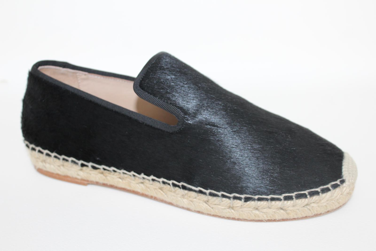 CELINE-Stacy-Black-Pony-Hair-Ladies-Flat-Espadrilles-Shoes-UK3-EU36-5-BNIB thumbnail 4