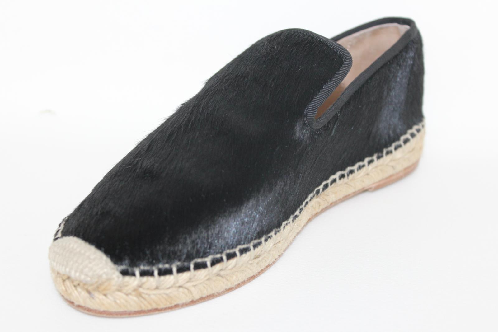 CELINE-Stacy-Black-Pony-Hair-Ladies-Flat-Espadrilles-Shoes-UK3-EU36-5-BNIB thumbnail 5