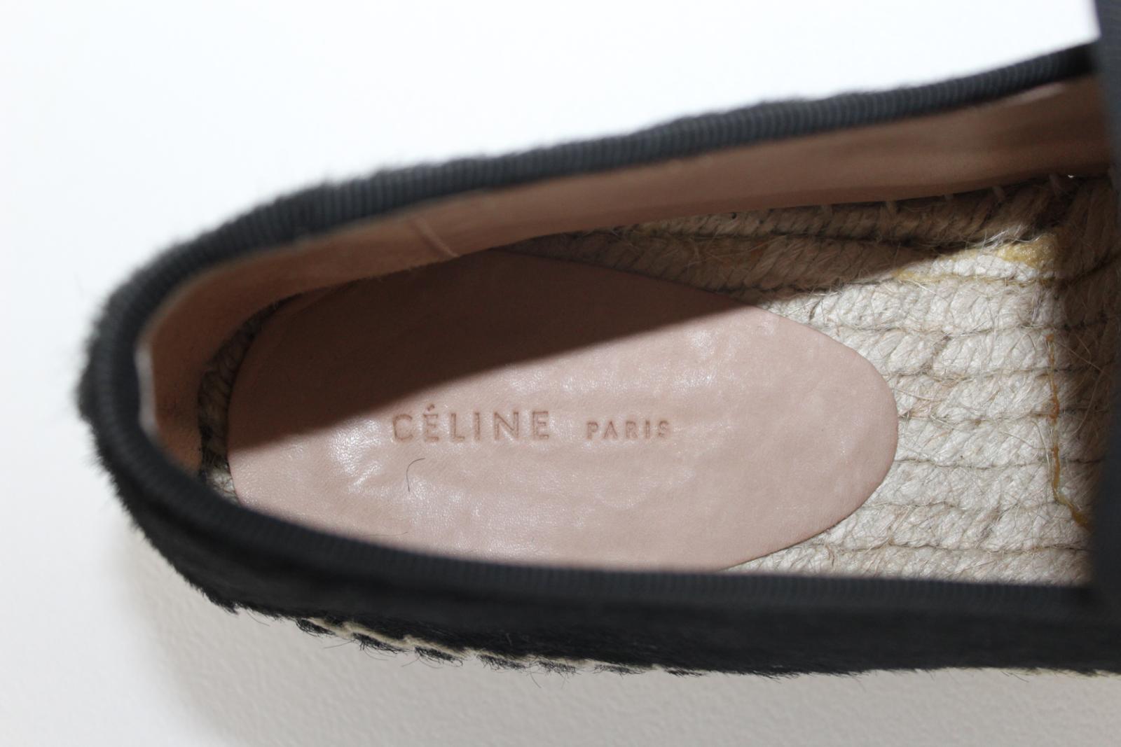 CELINE-Stacy-Black-Pony-Hair-Ladies-Flat-Espadrilles-Shoes-UK3-EU36-5-BNIB thumbnail 8