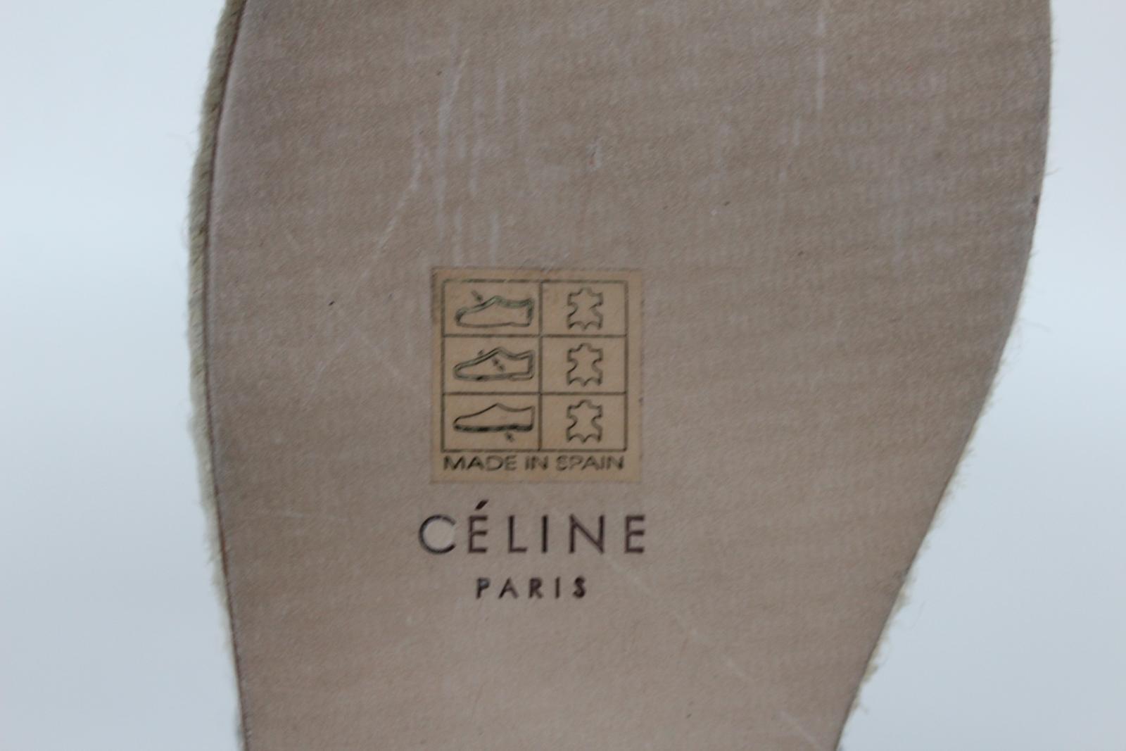 CELINE-Stacy-Black-Pony-Hair-Ladies-Flat-Espadrilles-Shoes-UK3-EU36-5-BNIB thumbnail 10