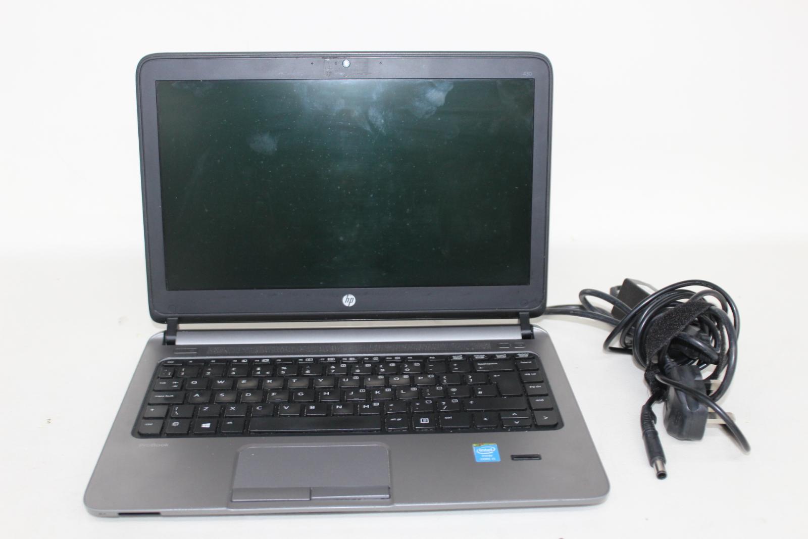 HP-ProBook-430-G1-IntelCore-i5-13-034-affichage-4-Go-RAM-Sans-Disque-Dur-Noir-Ordinateur-Portable miniature 2