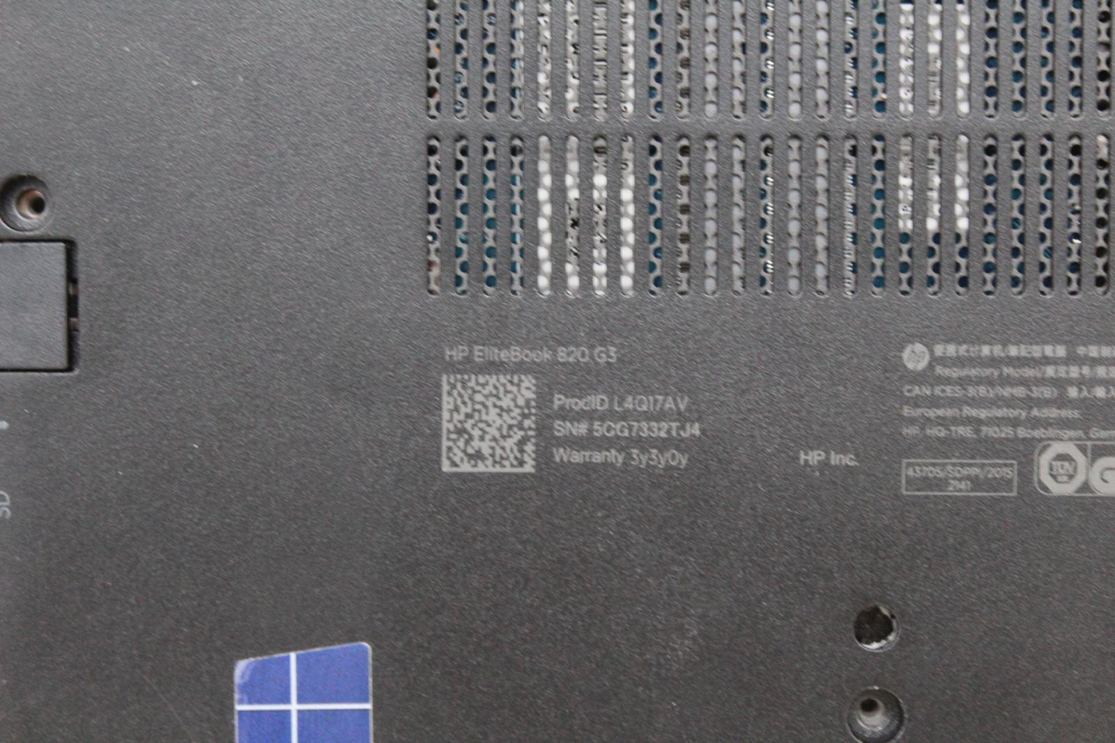 HP-Elite-Book-820-G3-IntelCore-i5-vPro-sans-disque-dur-RAM-Ordinateur-Portable-Ultrabook-Ordinateur miniature 8
