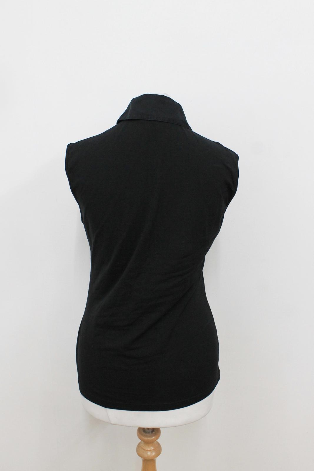 Fontaine nero Uk10 elasticizzato senza Anne Eu38 colletto maniche Ladies colletto abbottonato PZiTkuXO