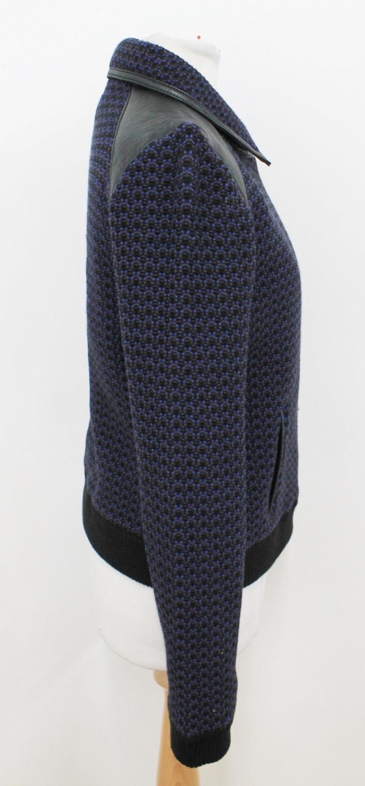 Bone S Jacket taglia Biker nera maniche blu maglia scuro lunghe Rag a in Ladies BUgqwOBdH