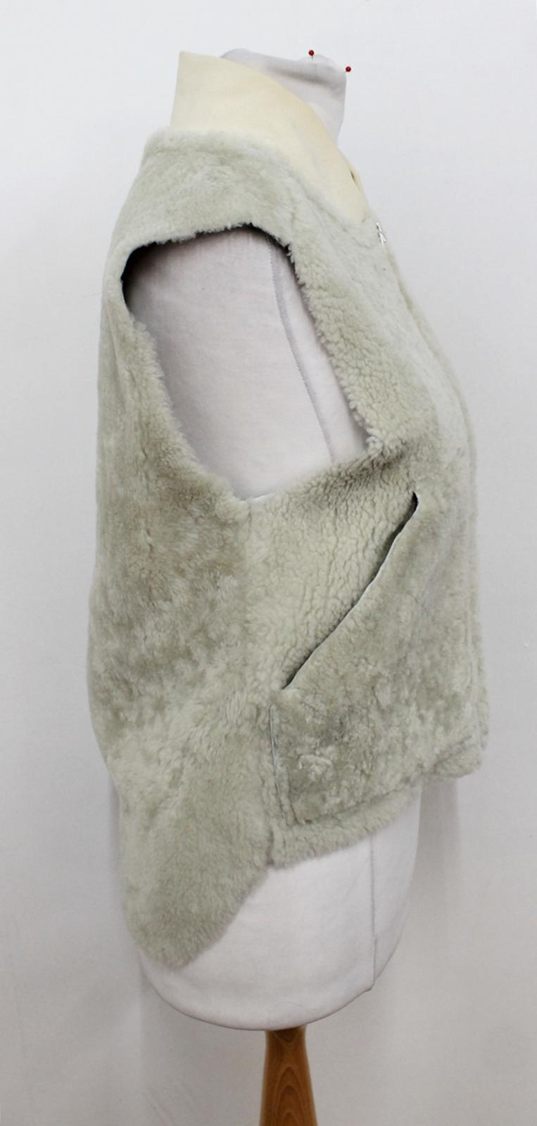 Size Gilet Shearling Rag amp; Bone Xs Dyed Collared Ivory Lamb Ladies Beige vxBOxzq