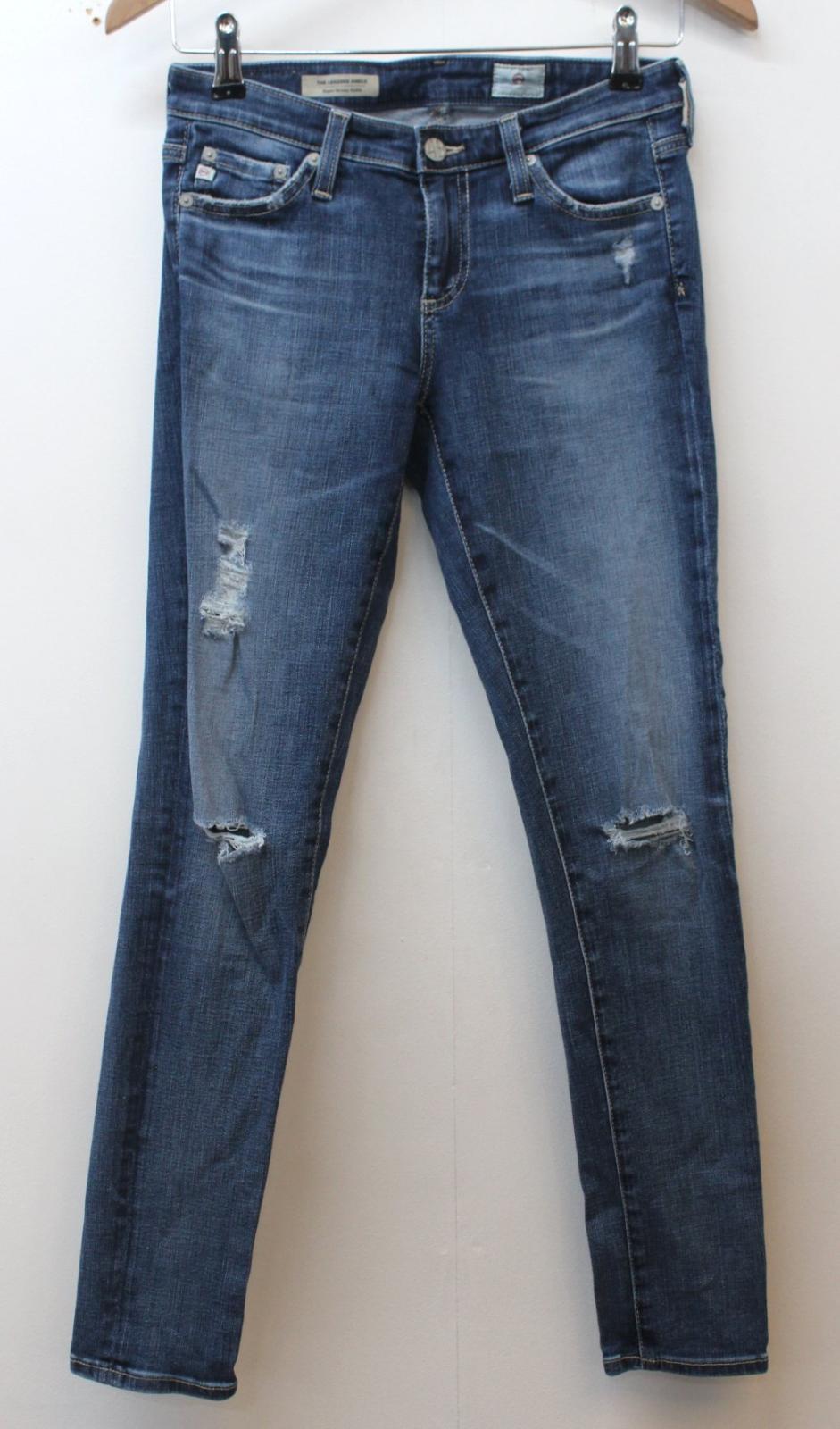W25 L26 Skinny Donna Super Blu Goldschmied Adriana Jeans Caviglia Legging 1BPwR1q