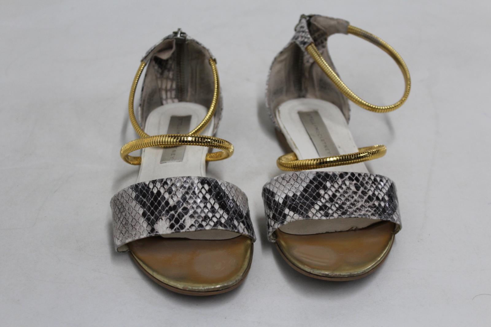 Imprimés Similicuir Pour Sandales À Talons Serpent Mccartney Femmes Imprimé Chaussures Stella YSwaXX