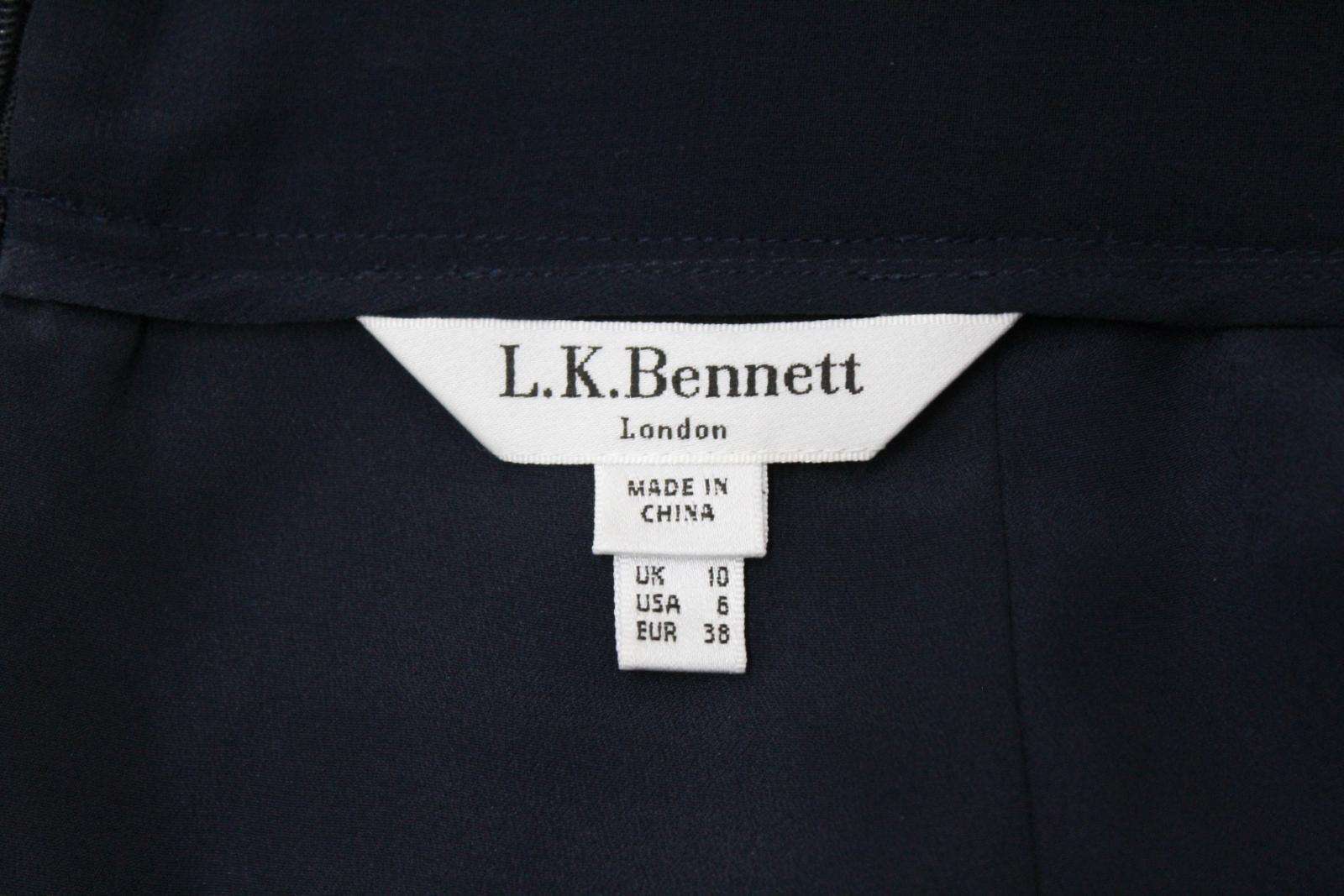 L-K-BENNETT-Ladies-Navy-Blue-Wide-Leg-Style-Casual-Trousers-Size-UK10-W28-L24 thumbnail 8