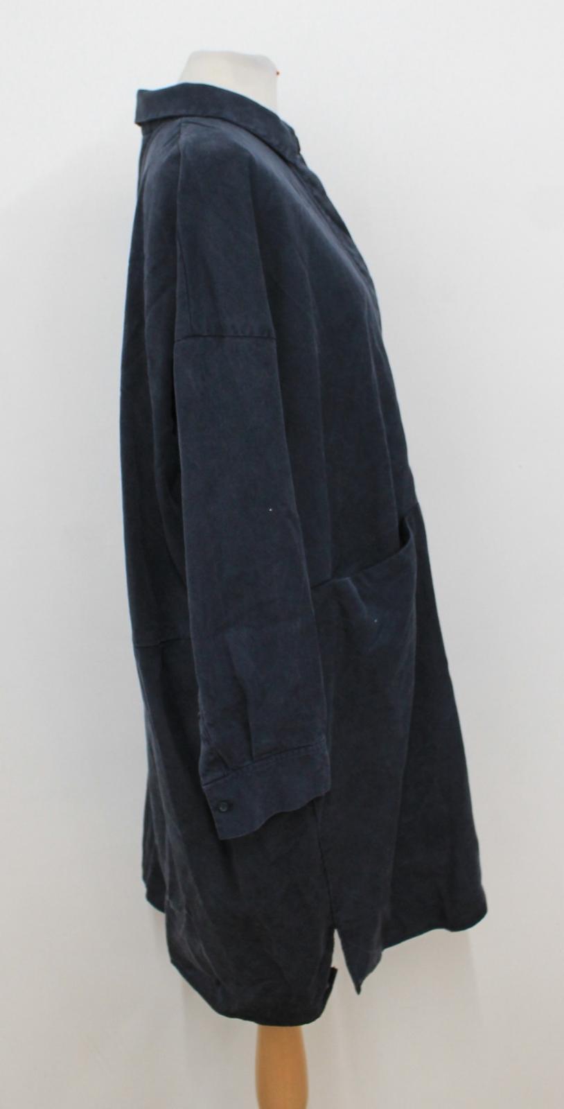 de à manches Robe chiffon col pour et délavé chemise chemisier femmes en longues noir CeBxdor