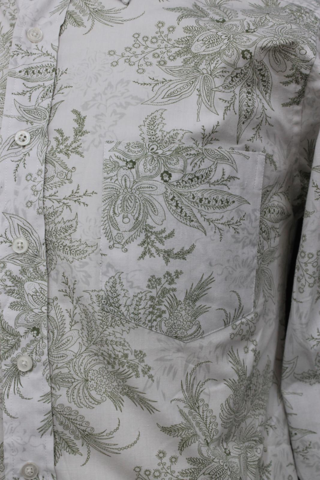 Paul-Smith-Para-Hombre-Blanco-Algodon-Con-Patron-Floral-Con-Cuello-Informal-Camisa-Talla-M miniatura 7