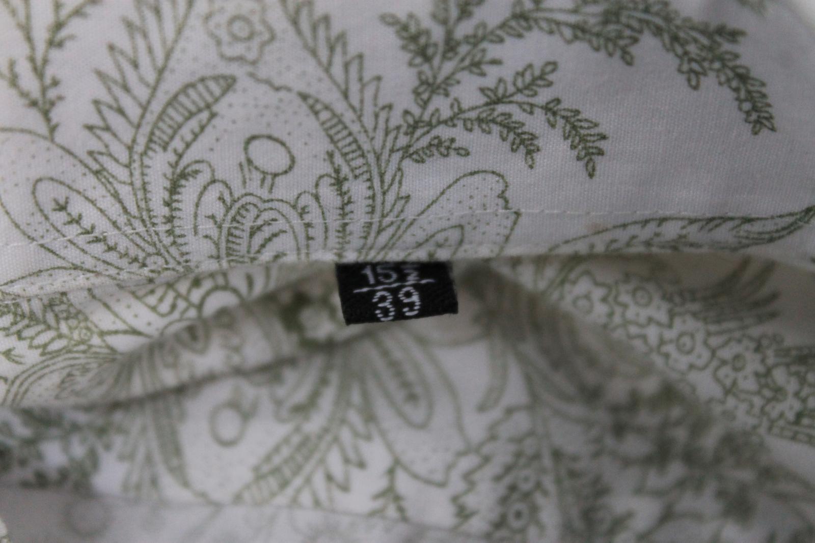 Paul-Smith-Para-Hombre-Blanco-Algodon-Con-Patron-Floral-Con-Cuello-Informal-Camisa-Talla-M miniatura 9