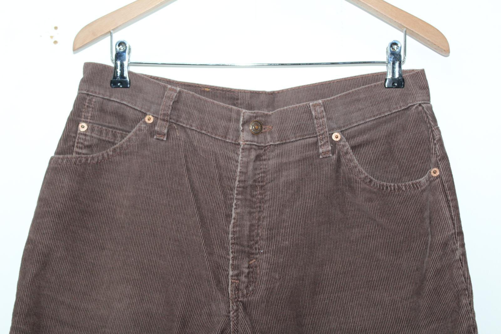 in velluto in con da a Pantaloni uomo Levi's misto W32 marrone cotone zip L32 dritti coste fT5wxdyqaw