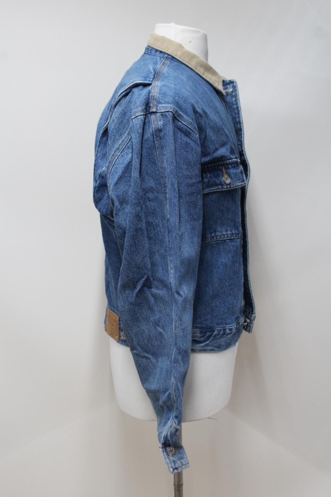 Lauren a Denim W Velluto Colletto Jacket Ralph Vintage Polo Taglia Up Button L coste TqnRZCwH