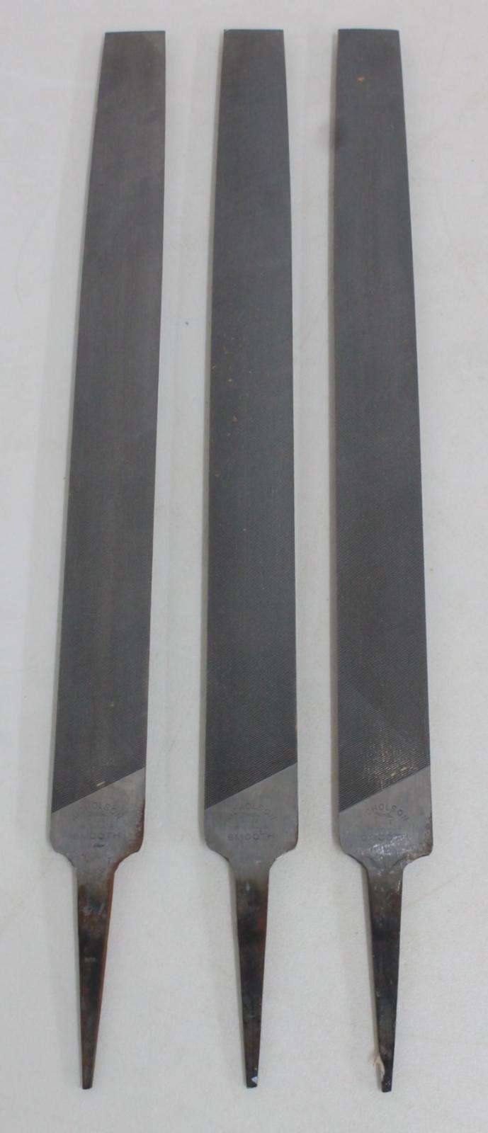 3-X-trabajo-de-madera-y-metal-Nicholson-Medio-Redondo-14-034-archivos-de-mano-corte-suave-30mm miniatura 2