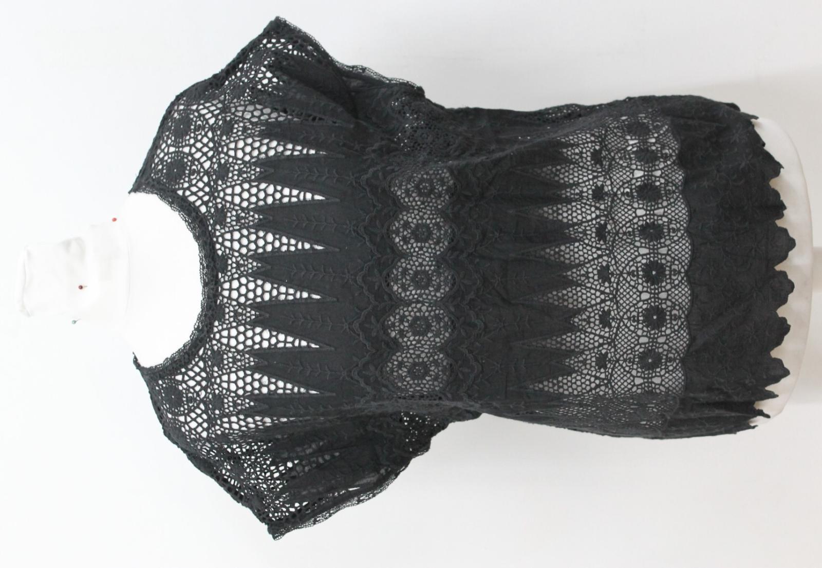Crochet Top Johnson circa Ladies New in cotone taglia Black Xs Us2 piccola Lace Ulla gHYIw