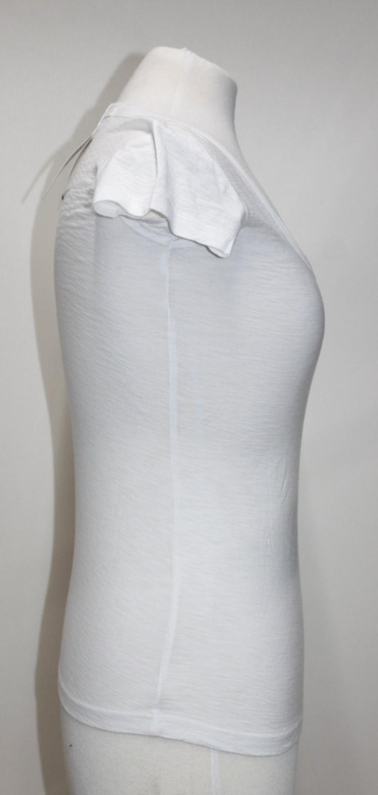 T Us0 bianco Perse shirt James Bnwt misto cotone manica in Uk4 corta qrZCwUq