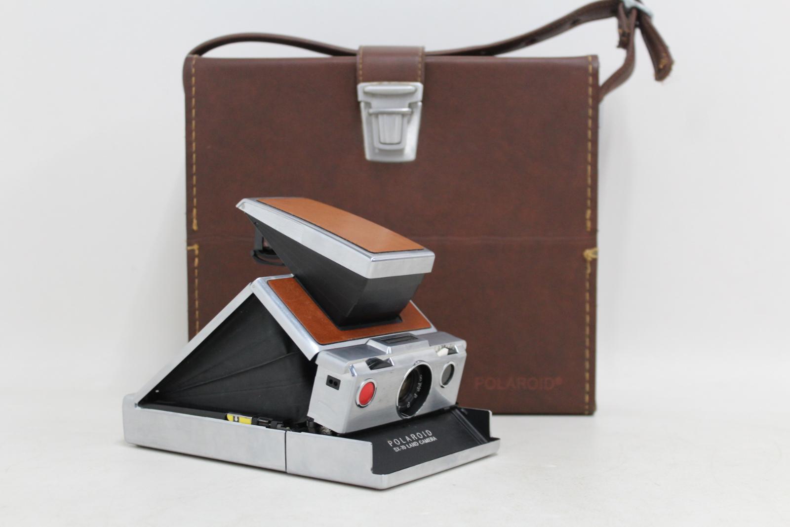 POLAROID SX-70 Land Camera Leather Body Vintage With Original Leather Bag 2  2 sur 12 ... 8fff1f530ff