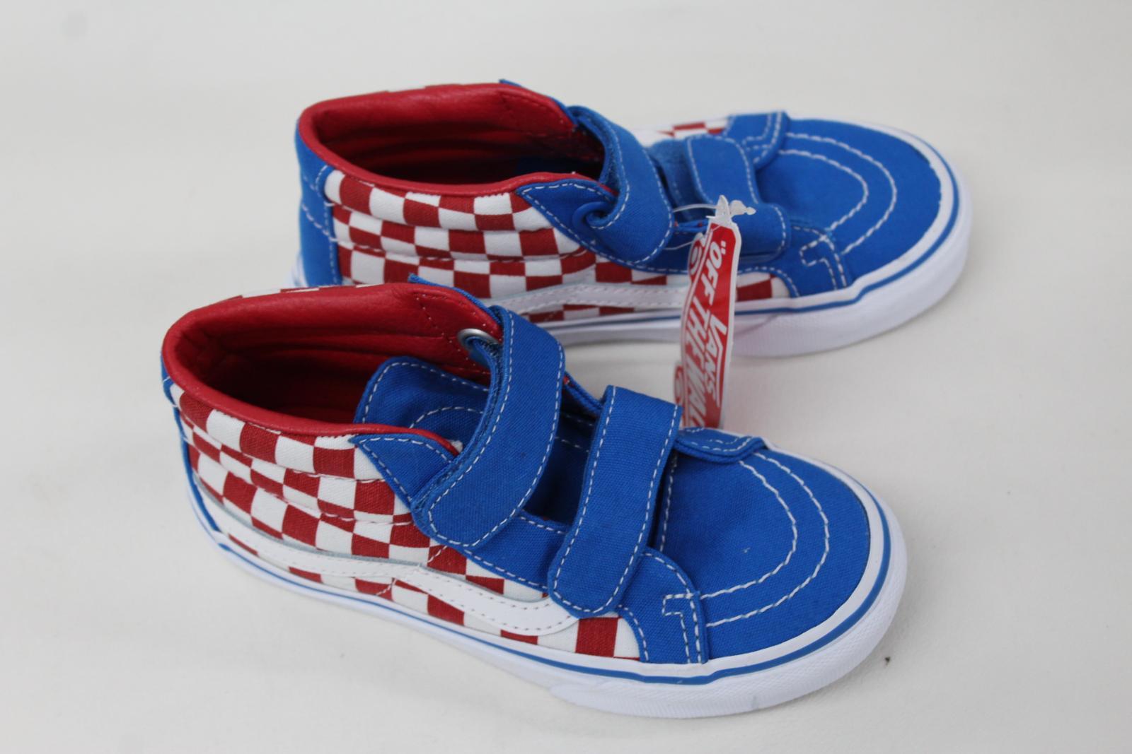 Nouveau montantes Uk11 Kids Vans damier Reissue rouge en blanc Eu28 hi et Baskets Sk8 Z1xxqO