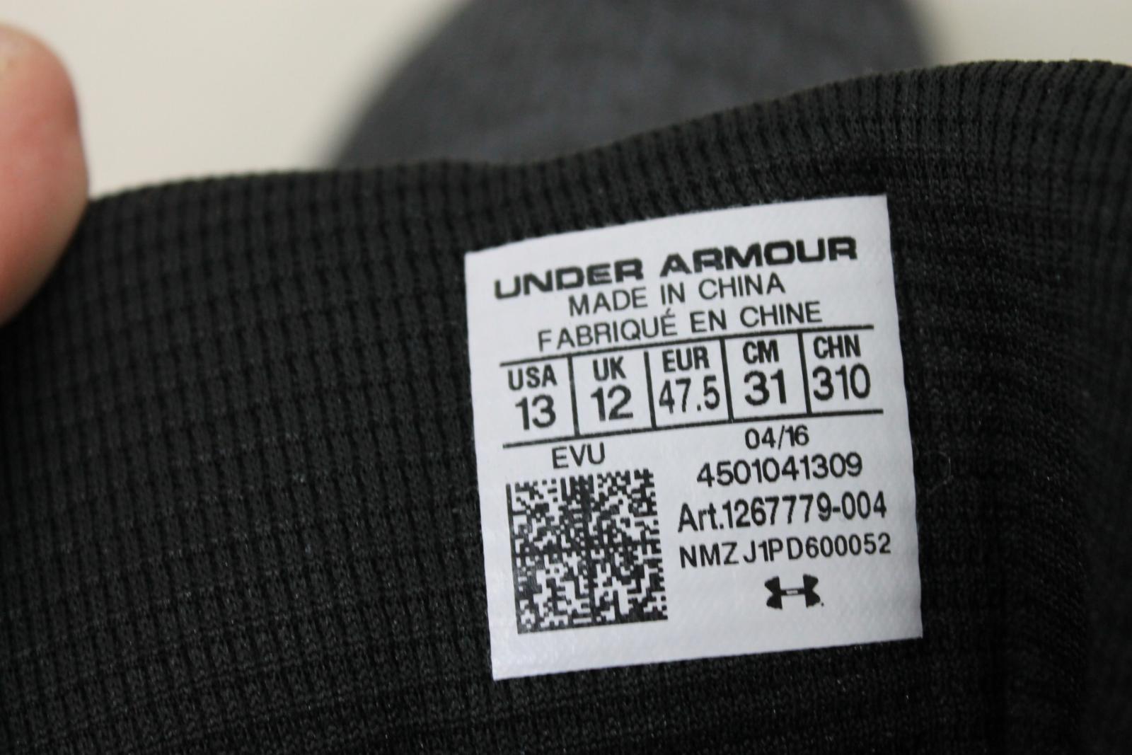 UNDER-ARMOUR-para-hombres-zapatos-de-baloncesto-Gris-Highlight-2-Drive-Talla-UK12-EU47-5-Nuevo miniatura 5