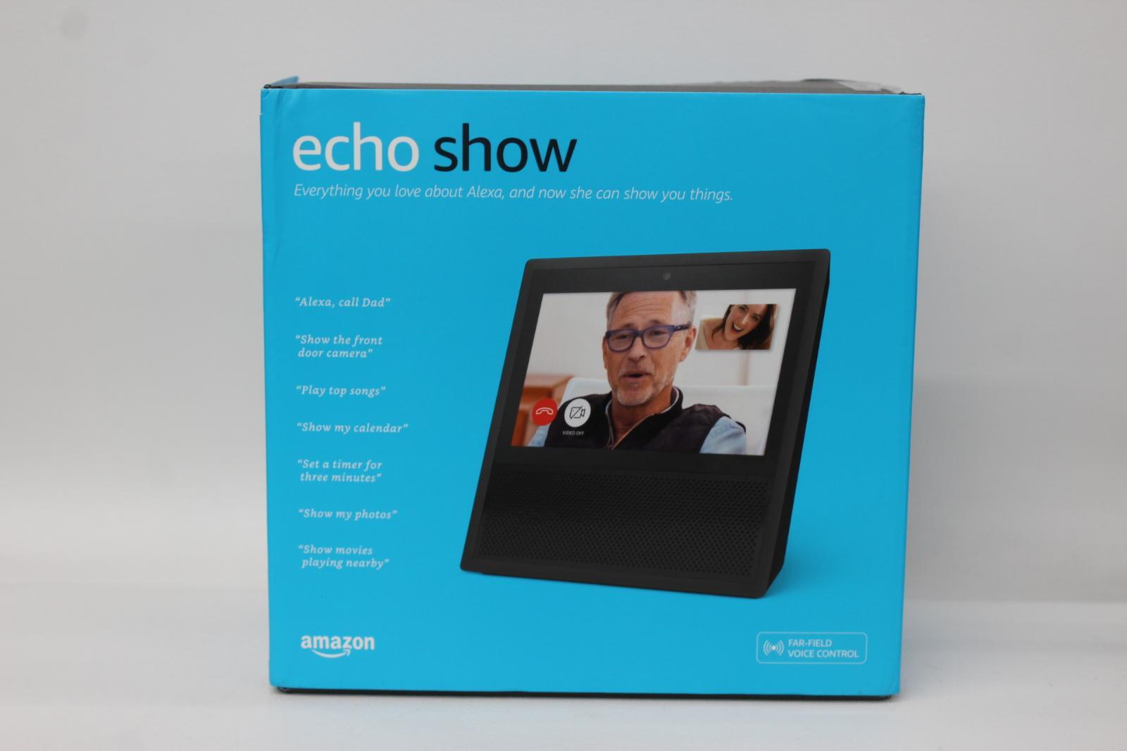 AMAZON-Echo-Show-Alexa-Smart-Assistant-Black-1st-Generation-7-034-Display-NEW thumbnail 2