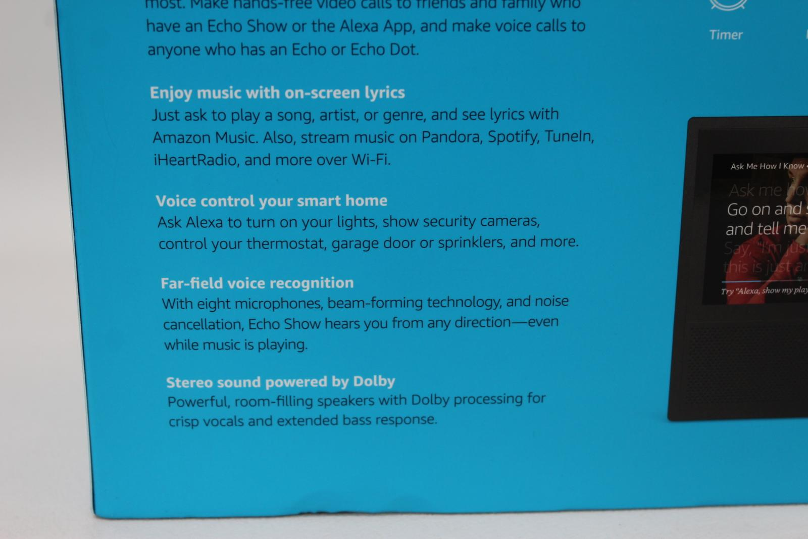 AMAZON-Echo-Show-Alexa-Smart-Assistant-Black-1st-Generation-7-034-Display-NEW thumbnail 7