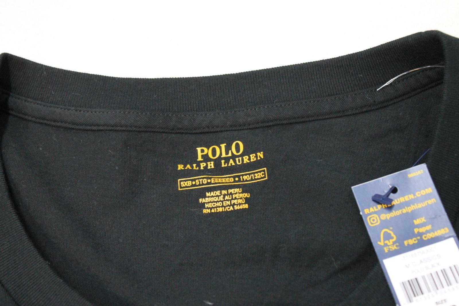 Ralph-Lauren-Polo-para-hombre-de-Big-Pony-Negra-manga-corta-camiseta-tamano-5XB-BNWT miniatura 8
