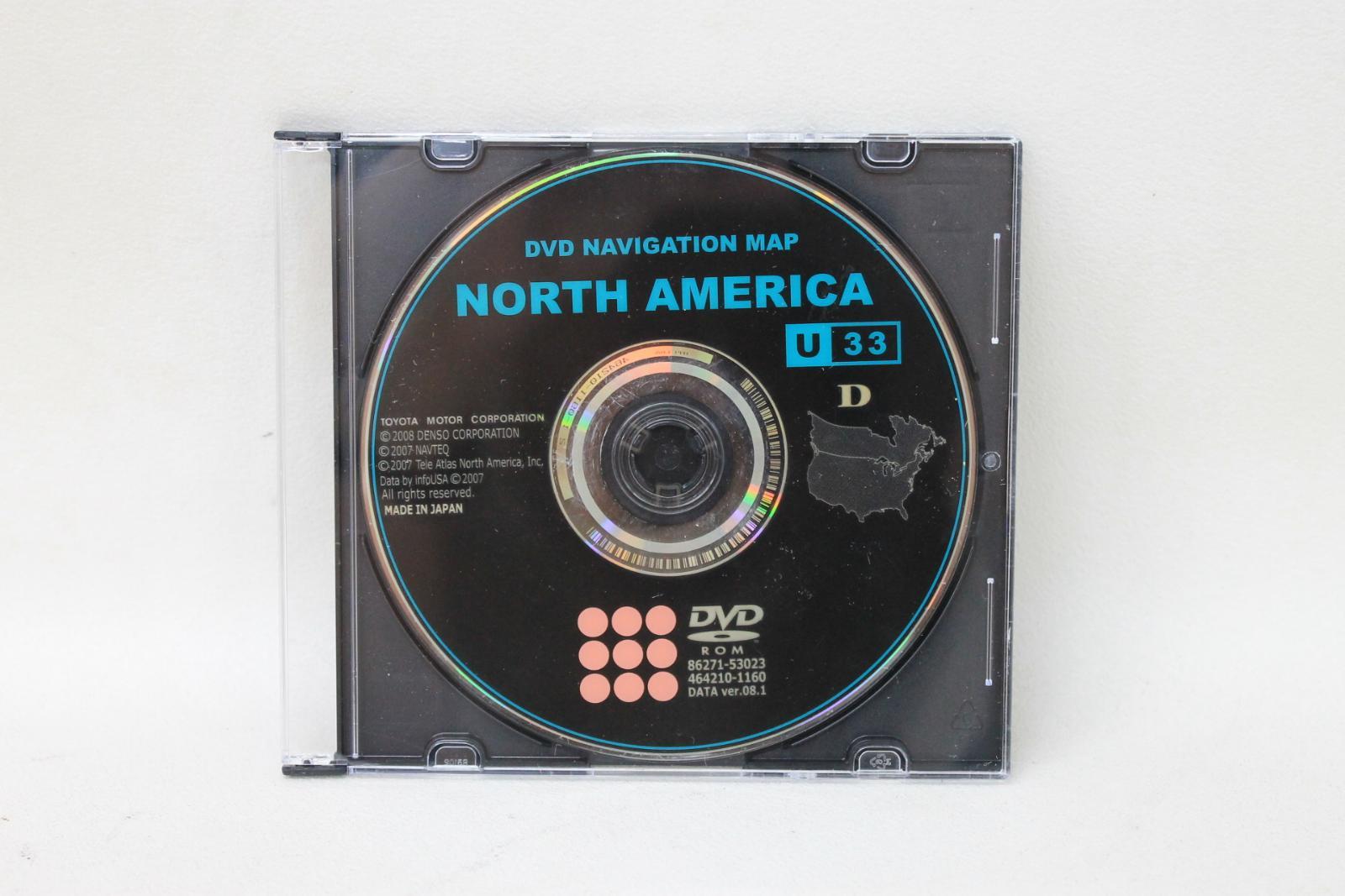 TOYOTA-MOTOR-CORPORATION-North-America-U33-D-Navigation-Map-DVD-Data-Ver-08-1 miniatuur 2