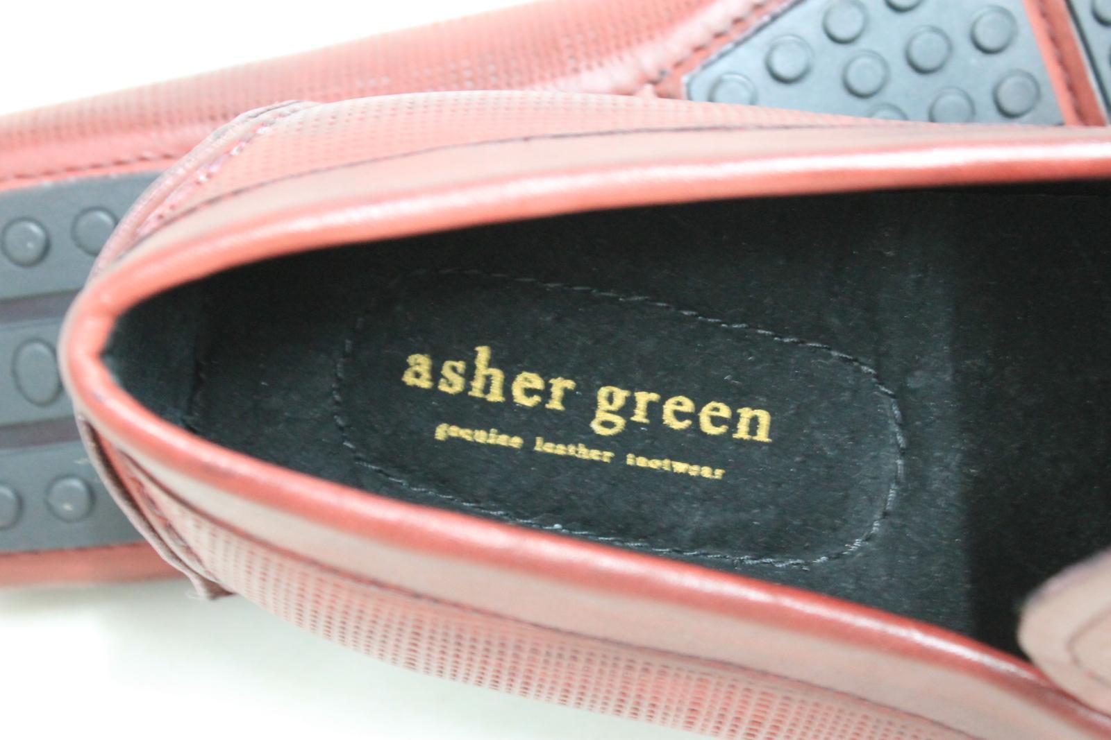Asher-Verde-Uomo-Rosso-Bordeaux-in-Pelle-GUCCI-Mocassino-Tg-UK-8-US9-NUOVO-CON-SCATOLA miniatura 9