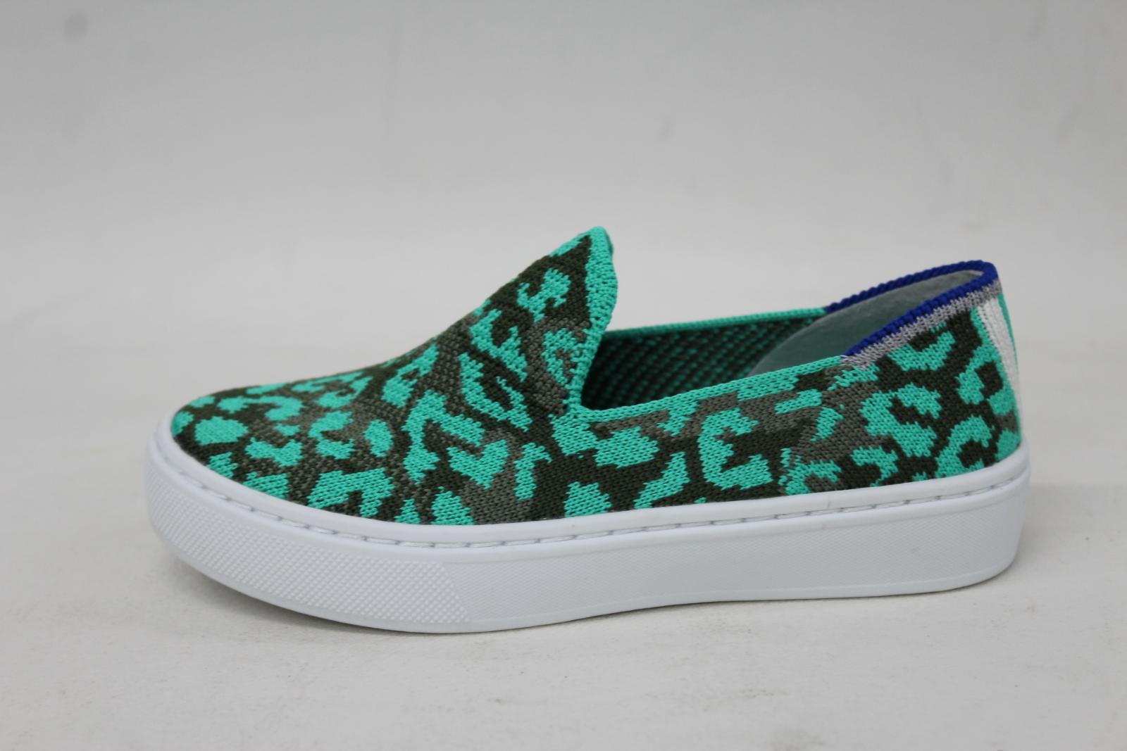 ROTHY'S Girls The Kids Sneaker Aqua Camo Spot Textile Shoes US10 UK9 BNIB 6