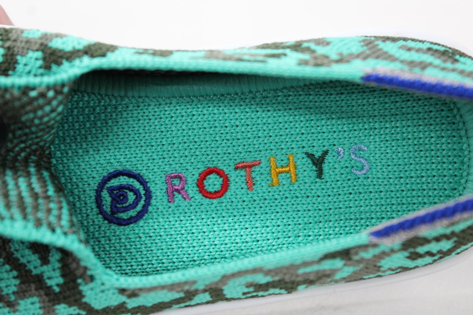 ROTHY'S Girls The Kids Sneaker Aqua Camo Spot Textile Shoes US10 UK9 BNIB 7