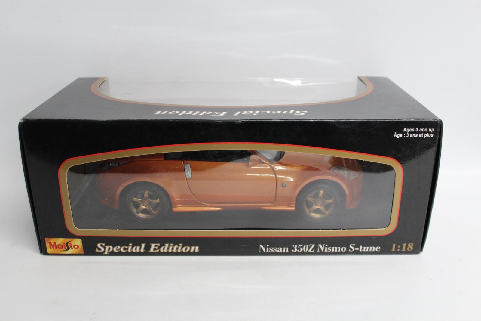 Maisto-31688-EDICIoN-Especial-Nissan-350z-Nismo-S-Tune-1-18-Escala-Modelo-de-Coche-Nuevo miniatura 4