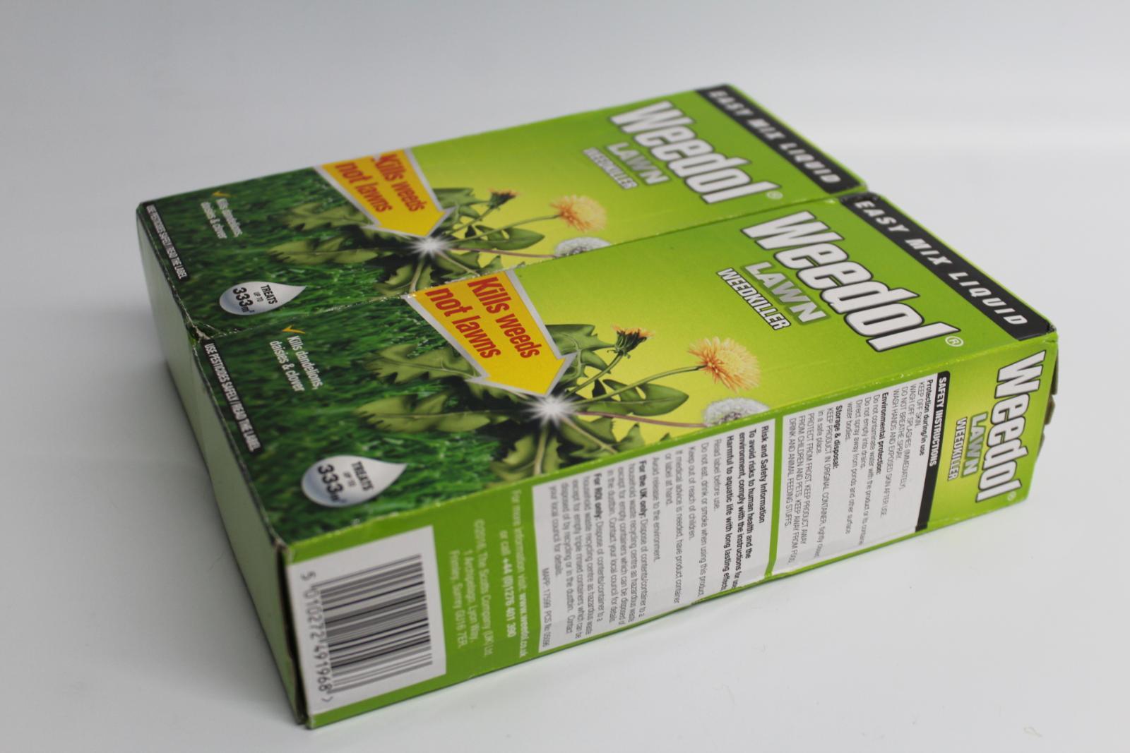 2x-BNIB-WEEDOL-Lawn-Weedkiller-500ml-Kills-Weeds-Treats-333m2-Garden-Space miniatura 6