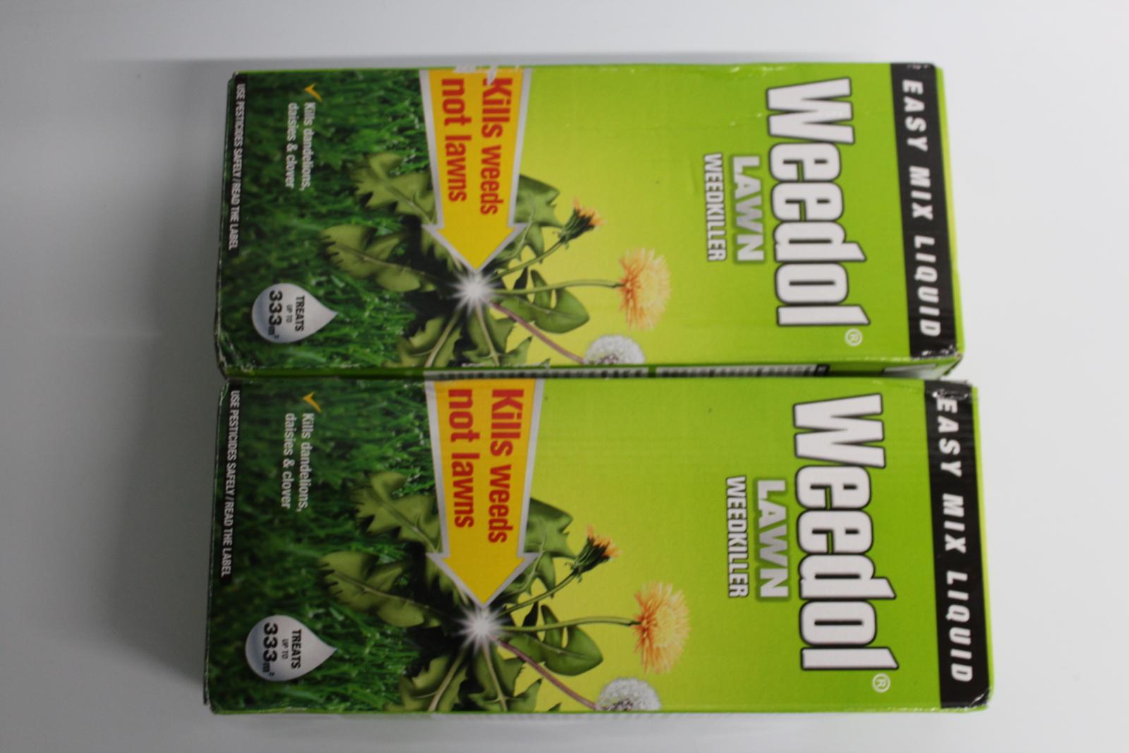 2x-BNIB-WEEDOL-Lawn-Weedkiller-500ml-Kills-Weeds-Treats-333m2-Garden-Space miniatura 7